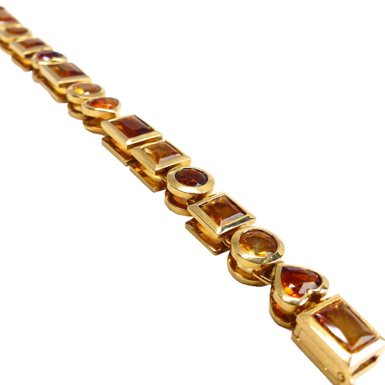Fine Citrine 18K Gold Bracelet Bracelet  For Sale