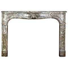 Fine Classic French Regency Period Antique Fireplace Surround in Marble