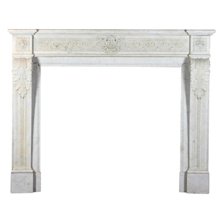 Classic Carrara Marble Bathrooms: Fine Classic Vintage Fireplace Surround In White Carrara