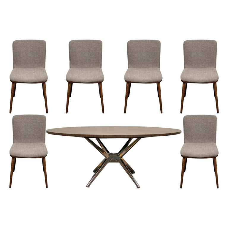 Fine Contemporary Conference/ Dining Table and Chairs by Calligaris Italian Smar For Sale