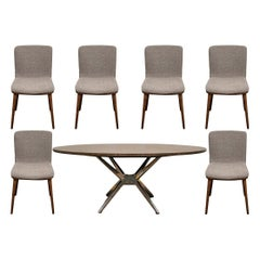 Fine Contemporary Conference/ Dining Table and Chairs by Calligaris Italian Smar