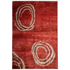 Handmade Contemporary Afganistan Rug, Hand-Dyed and Hand-Weaved