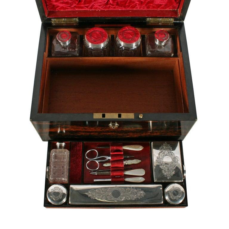 Ebony Fine Coromandel Jewelry and Dressing Box For Sale