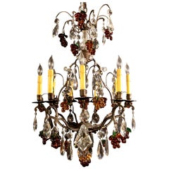 Fine Dark Bronze 9 Lights Chandelier with Excellent Quality Crystals and Glass