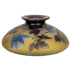 Fine Émile Gallé  Enamel Glass Vase