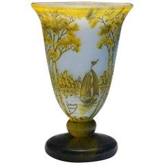Fine Daum Nancy Footed Vase