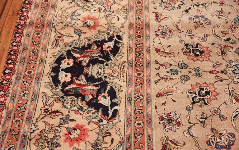 Breathtaking and finely woven decorative large vintage Persian Tabriz rug, country of origin / rug type: Vintage Persian rug, date circa mid–20th century. Size: 12 ft 2 in x 15 ft 9 in (3.71 m x 4.8 m).