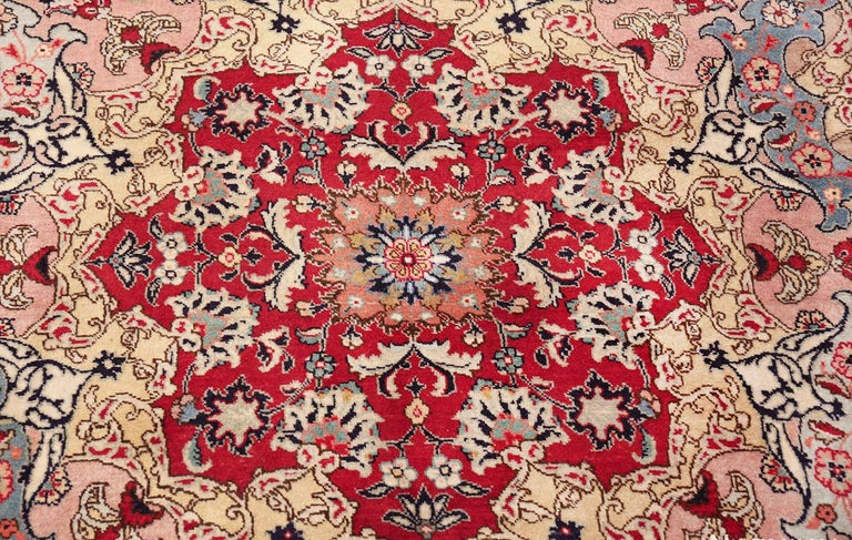 Hand-Knotted Fine Decorative Large Vintage Persian Tabriz Rug. Size: 12 ft 2 in x 15 ft 9 in For Sale