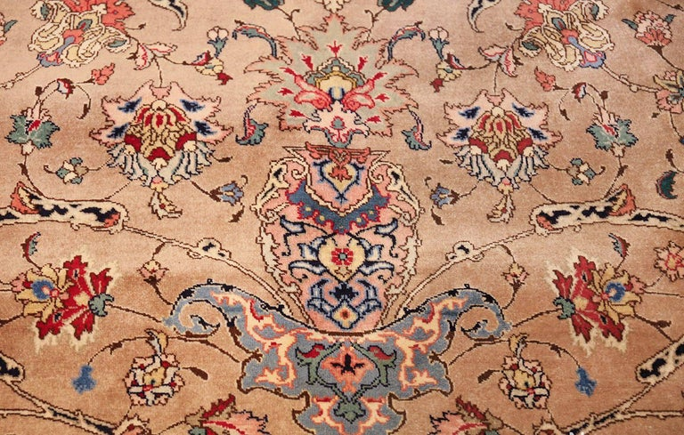 20th Century Fine Decorative Large Vintage Persian Tabriz Rug. Size: 12 ft 2 in x 15 ft 9 in For Sale