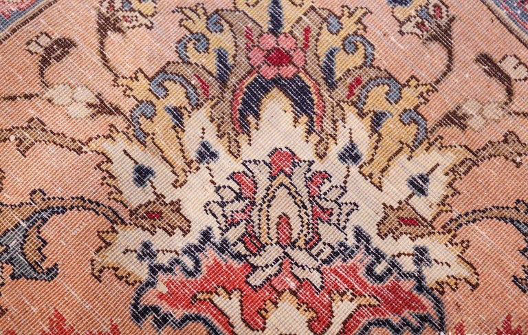 Wool Fine Decorative Large Vintage Persian Tabriz Rug. Size: 12 ft 2 in x 15 ft 9 in For Sale