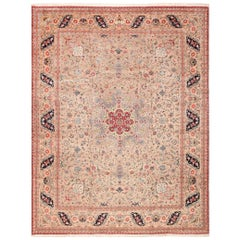 Fine Decorative Large Vintage Persian Tabriz Rug. Size: 12 ft 2 in x 15 ft 9 in