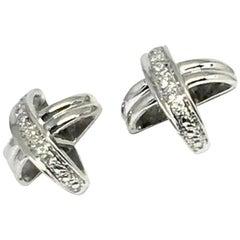 """Diamond Stud Earrings 14k Gold""""X"""" Certified"""