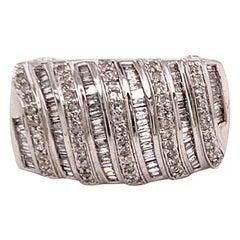 Diamond Ring 14k Gold Statement Women Certified