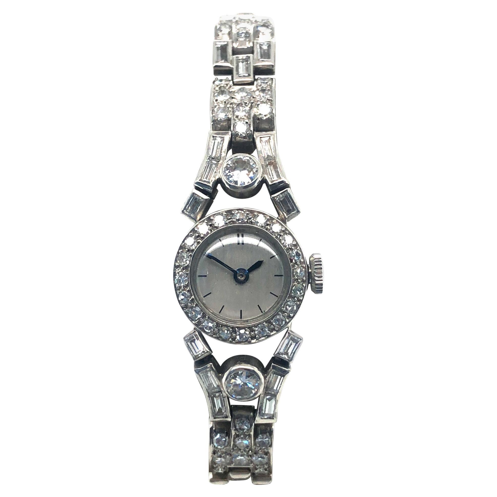 Fine Diamond Ladies Watch in Platinum 950