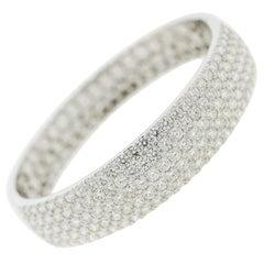 Fine Diamond Pave Gold Bangle Bracelet