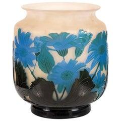 Fine Double over Laid Galle Cameo Glass Vase Signed Émile Gallé