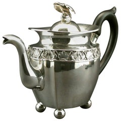 Fine Early 19th Century Continental Silver Teapot, Probably Russian, circa 1825