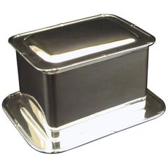 Early 20th Century Silver Plated Biscuit Box / Humidor by Mappin & Webb, England