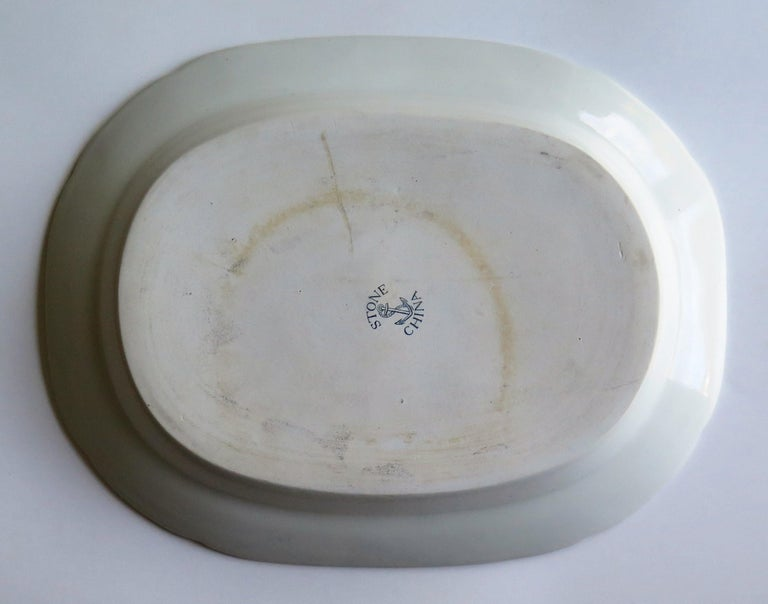 Fine Early Davenport Ironstone Platter, Bamboo and Peony Pattern, circa 1810 For Sale 8
