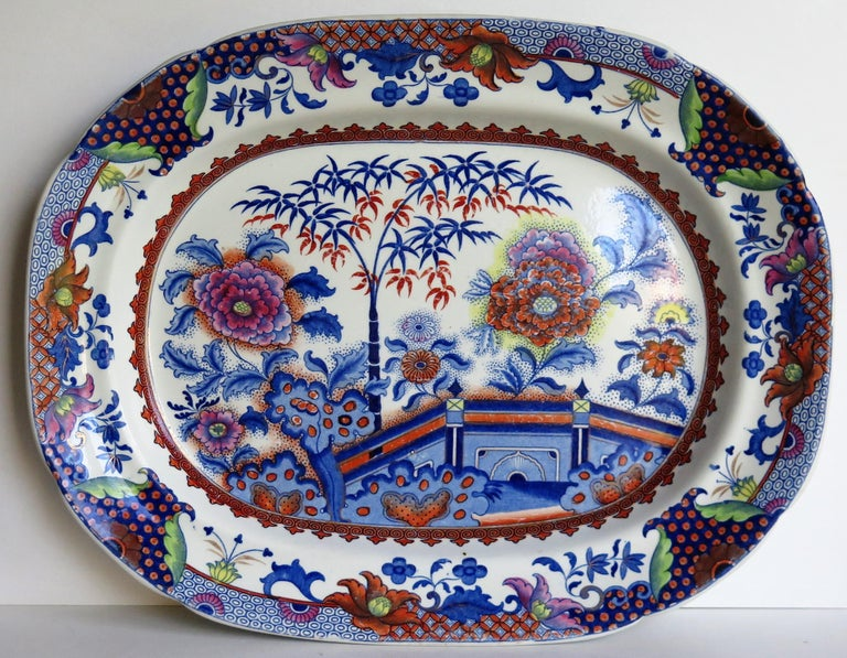 Fine Early Davenport Ironstone Platter, Bamboo and Peony Pattern, circa 1810 In Good Condition For Sale In Lincoln, Lincolnshire