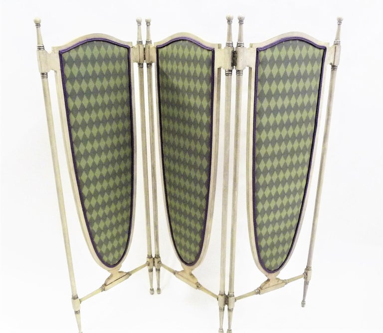 Fine Edwardian English Regency Revival Boudoir Screen In Good Condition For Sale In Miami, FL