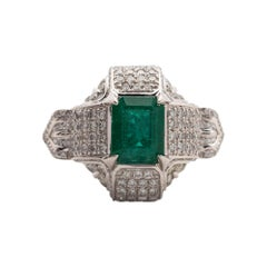 Fine Emerald and Diamond Ring