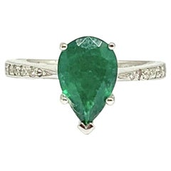 Fine Emerald and Diamond 14 Karat 3.59 Carat Ring Certified