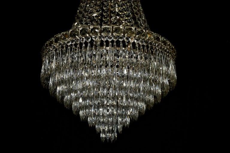 Kronleuchter Kristall Silber ~ Empire wasserfall kronleuchter lüster kristall perle silber art deco
