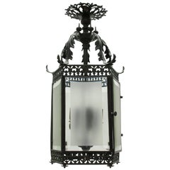 Fine English Bronze Hanging Lantern