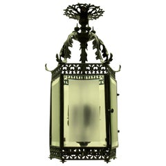 Fine English Bronze Hanging Lantern