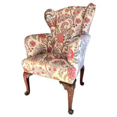 Fine English George II Period Mahogany Wing Armchair