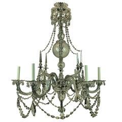 Fine English George III Cut Glass Chandelier