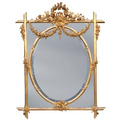 Fine English Mid-19th Century Carved Giltwood Mirror