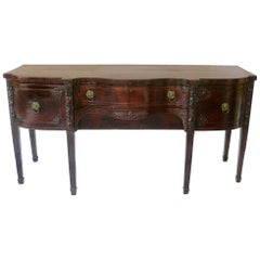 Fine English Regency Mahogany Sideboard