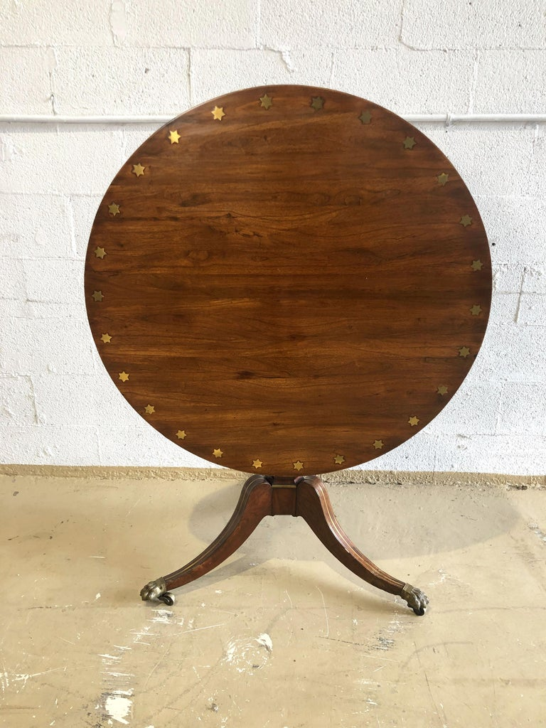 Fine English Regency Rosewood and Brass Inlaid Center Table For Sale 7