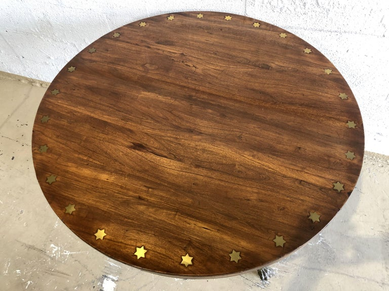 Fine English Regency Rosewood and Brass Inlaid Center Table For Sale 4