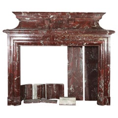 Fine European Grand Reception Hall Vintage Fireplace Surround in Marble