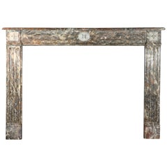 Fine European Original Antique Classic Marble Fireplace Surround
