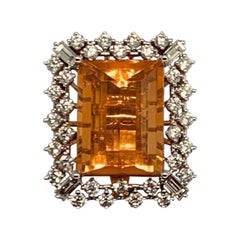 Fine Fire Opal 11 Carat Diamond Ring Pendant Necklace 18 Karat Certified $14,950