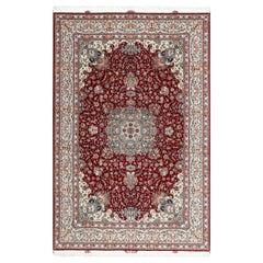 Fine Floral Vintage Tabriz Persian Rug