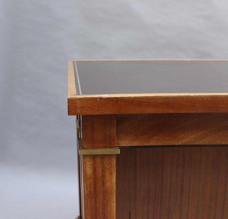Fine French 1950s Mahogany Curved Desk by Jacques Adnet '2 Available' For Sale 6