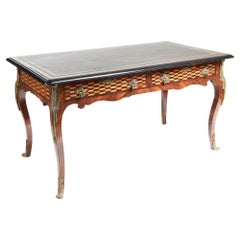 Fine French 19th Century Victorian Parquetry and Ormolu-Mounted Bureau Plat Desk
