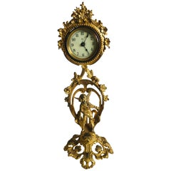 Fine French Antique 19th Century Ornate Gilded Clock