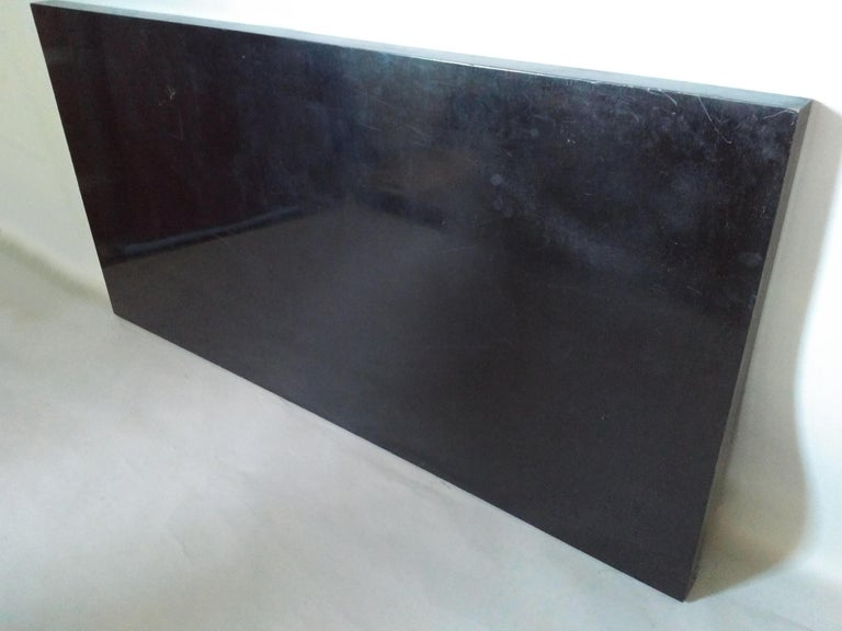 A Fine French Art Deco Black Lacquered Dining Table 3