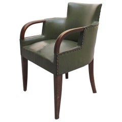 Fine French Art Deco Desk Armchair by Dominique