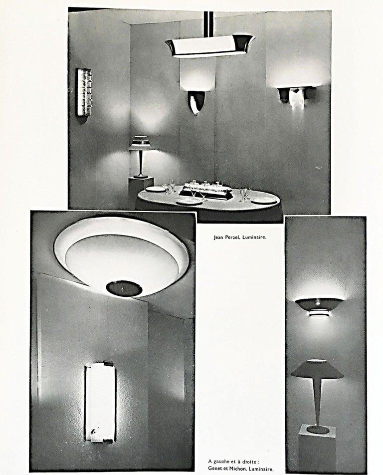 Fine French Art Deco Flush Mount by Genet Michon For Sale 6