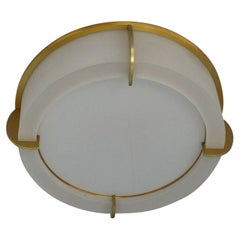 Fine French Art Deco Glass and Bronze Ceiling Light by Jean Perzel