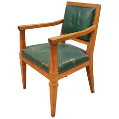 Fine French Art Deco Mahogany Armchairs Attributed to André Arbus
