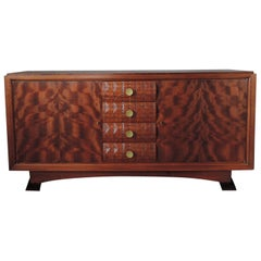 "Fine French Art Deco Mahogany Sideboard by Albert Guenot for ""Atelier Pomone"""