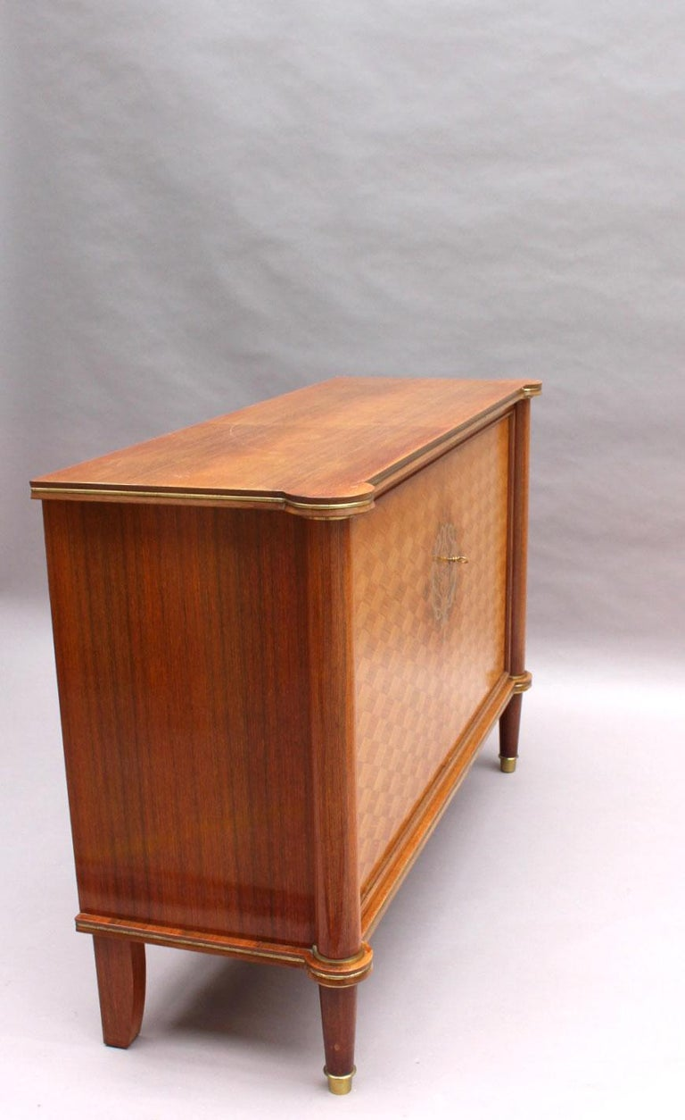 Petit Buffet Art Deco fine french art deco palisander and marquetry buffet / commodejules  leleu